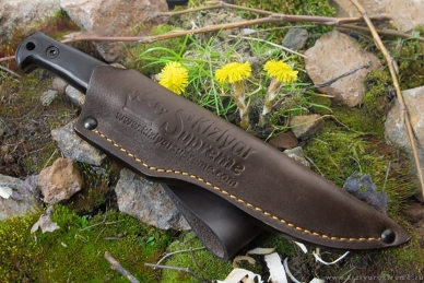 Нож Pioneer AUS-8, Black G-10 Kizlyar Supreme