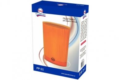 Подставка для ножей овальная оранжевая, TimA в упаковке