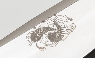 """Рисунок на клинке ножа """"Навага"""""""