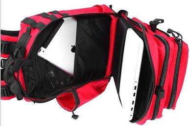 Рюкзак красно-черный Kiwidition Kahu City