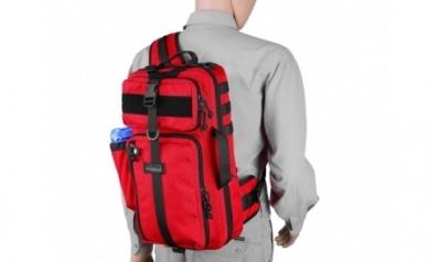 Рюкзак однолямочный Kiwidition Tawaho City 15 (RC красно-черный)