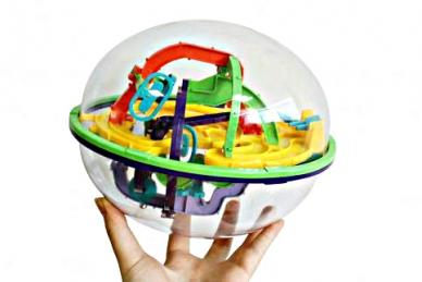 Головоломка шар-лабиринт Лабиринтус 22 см 168 шагов