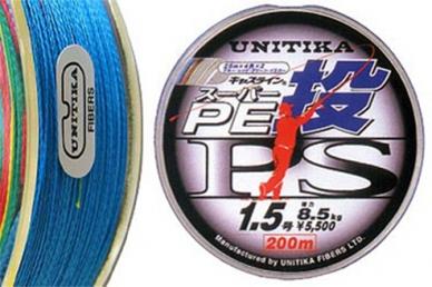 Спиннинговый шнур CastLine PE PS 0,213 Unitika, Япония