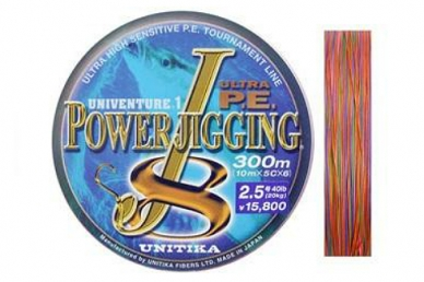 Шнур Power Jigging J8 0,344, Unitika