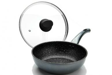 Сковорода ВОК 240 мм (серая) 23566 Mayer & Boch