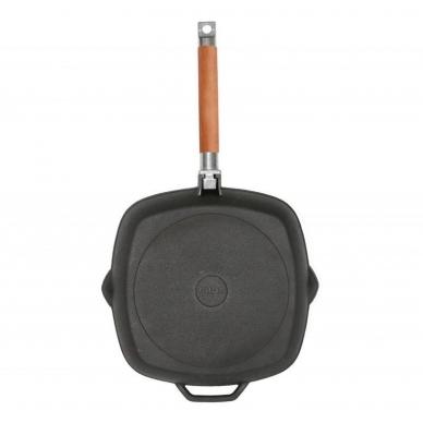 Чугунная сковорода-гриль со съемной ручкой