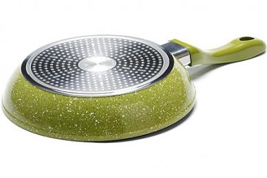 Сковорода литая 240 мм (желтая) 26900 Mayer & Boch, дно