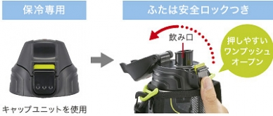 Спортивная пробка для холодных напитков MBO-E080 Black 0,8 л Tiger