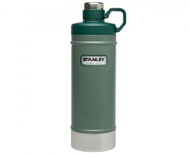 Термобутылка Stanley Classic 0,62 л зеленого цвета