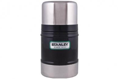 Черный термос Classic Vacuum Food 0,5 л Stanley, США