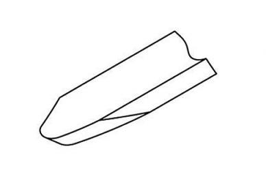 Резец токарный ручной проходной полукруглый (глубокий) Narex, форма лезвия