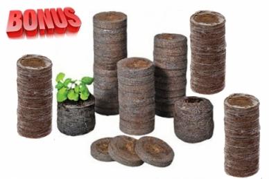 Торфяные таблетки Jiffy-7 диаметр 22 мм в количестве 300 штук