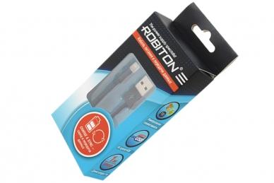 USB Lightning, 1 м черный BL1, Robiton