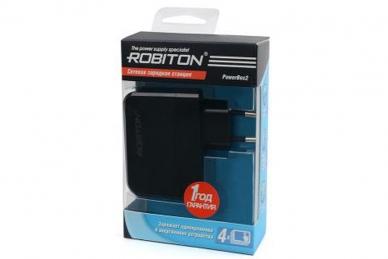 Зарядная станция для телефонов и планшетов с 4 USB-портами PowerBox2, Robiton