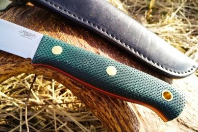 Нож Росомаха N690 (тёмно-зеленая микарта с оружейной насечкой) Южный Крест
