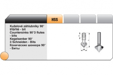 Конический зенкер Bucovice Tools, Чехия, 16,5 мм