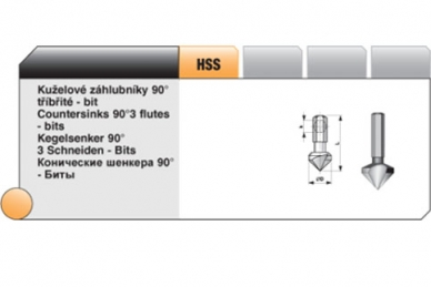 Конический зенкер Bucovice Tools, Чехия, 8,3 мм