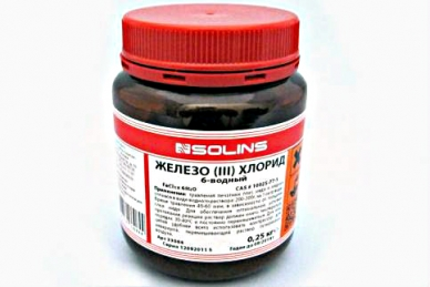 Железо хлорное 6-водное (250 грамм) Solins