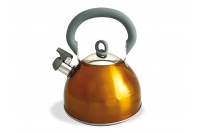 Чайник золотистого цвета 2.5 л со свистком, TimA