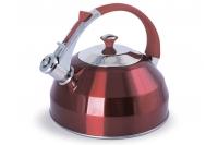 Чайник 3.0л (рубиновый) со свистком TimA, Россия