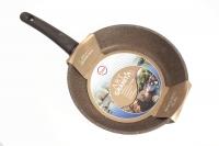 Сотейник TVS ART GRANIT 26 см (мраморная крошка, коричневый) TimA