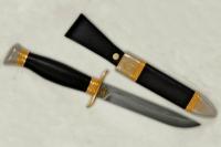 Нож Финка НКВД (нерж. дамасская сталь, граб) модель 33698 АиР (Златоуст), Россия