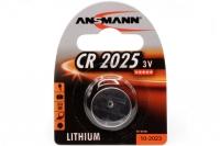 Батарейка Lithium CR 2025 (3 В, 160 мАч) Ansmann, Германия