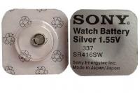 Батарейка серебряно-цинковая SR416SWN 337, Sony