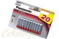 Элементы питания щелочные Everyday Power AAA 20 шт. Panasonic, Япония