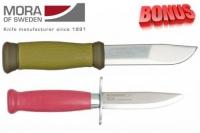 Бонус-пак: ножи Mora 2000 и Mora Scout 39 Safe Pink