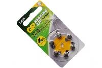 Батарейка воздушно-цинковая Hearing Aid ZA10F-D6 ZA10 BL6, GP