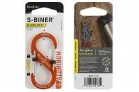 Алюминиевый двусторонний карабин S-Biner SlideLock #3 (orange) Nite Ize