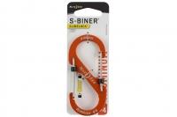 Алюминиевый двусторонний карабин S-Biner SlideLock #4 (orange) Nite Ize