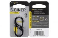 Алюминиевый двусторонний карабин S-Biner SlideLock #2 (black) Nite Ize