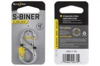 Карабин двусторонний S-Biner SlideLock #2 (stainless) Nite Ize