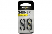 Двусторонние карабины S-Biner Microlock (black) Nite Ize