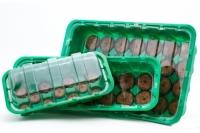 Мини-теплица с торфяными таблетками Jiffy, 41 мм/28 ячеек