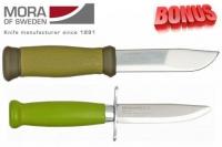 Бонус-пак: ножи Mora 2000 и Mora Scout 39 Safe Green