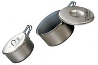 Набор титановой посуды 0,9 л + 1,3 л Non-Stick ECA412 Evernew