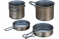 Набор титановой посуды 0,9 л + 1,4 л Non-Stick ECA405 Evernew