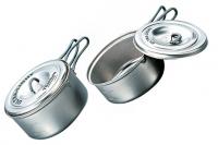 Набор титановой посуды 0,6 л + 0,9 л Ultra-Light ECA259 Evernew