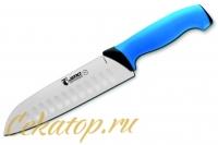Нож Сантоку 180 мм 4818 TR (blue) Jero