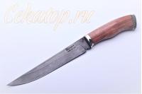 Нож Шерхан (литой булат) светло-коричневая рукоять