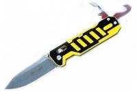 Нож складной G735 (черно-желтый) Ganzo