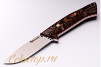 Нож «Соколиный Глаз» (сталь K110, черно-оранжевый G-10) Лебежь, Россия