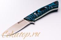 Нож «Соколиный Глаз» (сталь N690, черно-синий G-10) Лебежь, Россия