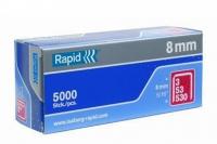 Скобы для степлера 8 мм, тип 53 (5000 шт.) Rapid