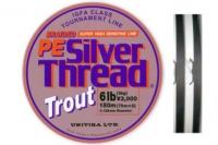 Прочный спиннинговый шнур PE Silver Thread Trout 0,128