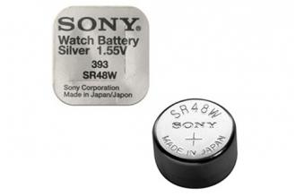 Батарейка серебряно-цинковая часовая SR754W 393, Sony