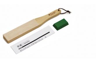 Доска для финишной правки ножей + паста Suehiro KSW-310